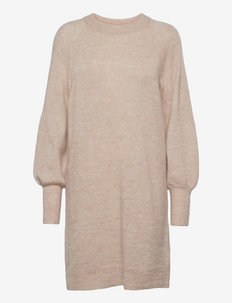 SLFLULU LS KNIT DRESS O-NECK - hverdagskjoler - birch