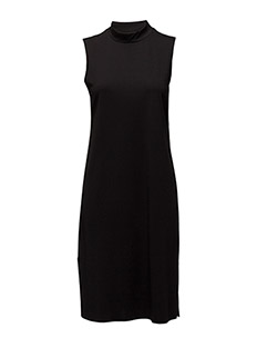 SFCODA SL HIGHNECK DRESS EX - BLACK