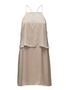 SFRITA SILK STRAP DRESS EX - SMOKE GRAY