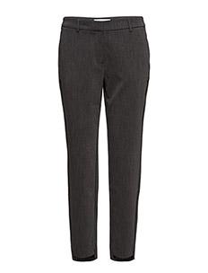 SLFAMILA MW PANT NOOS - rette bukser - dark grey melange