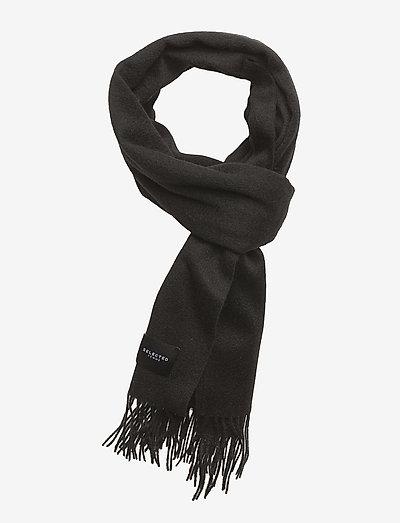 SLFTIME WOOL SCARF B - vinterskjerf - black