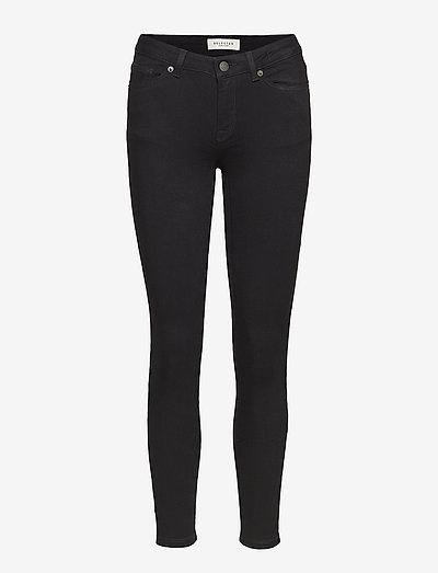 SLFIDA MW SKINNY  BLACK JEANS W - skinny jeans - black denim
