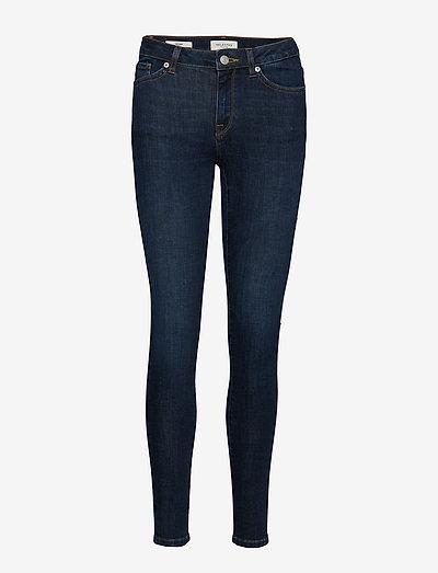 SLFIDA MW SKINNY DARK BLUE JEANS U - skinny jeans - dark blue denim