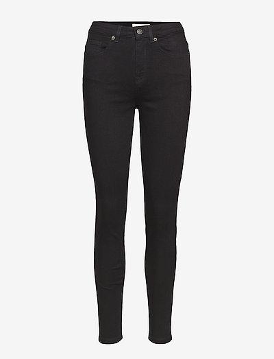 SLFMAGGIE HW SKINNY BLACK JEANS W - bukser med smalle ben - black denim