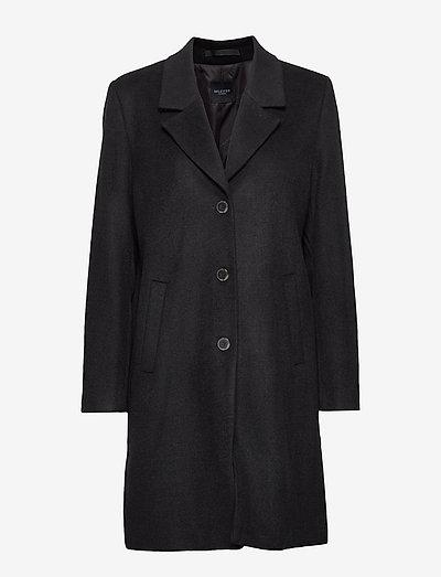 SLFSASJA WOOL COAT  B - vinterfrakker - black