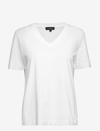 SLFSTANDARD SS V-NECK TEE - t-shirts - bright white