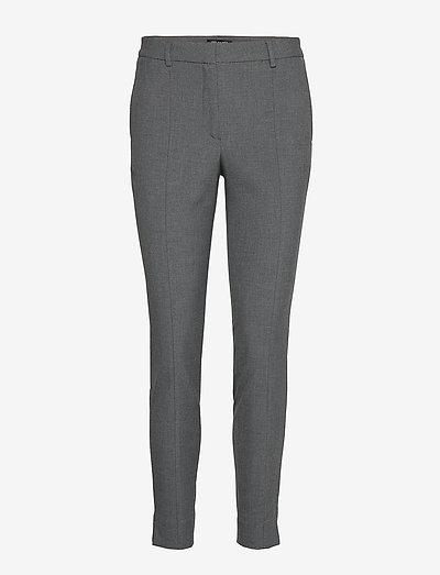 SLFMUSE FIE CROPPED MW PANT MGM B - bukser med lige ben - medium grey melange