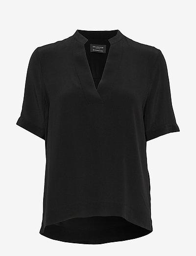 SLFELLA SS TOP B - kortærmede bluser - black