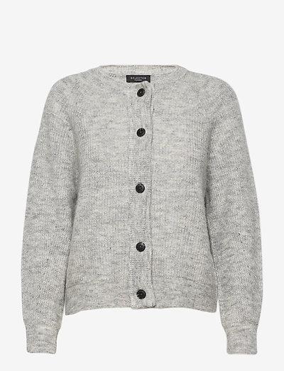 SLFLULU LS KNITHORT CARDIGAN - cardigans - light grey melange