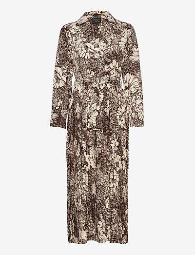 SLFZURI-FLORENTA LS  AOP ANKLE  DRESS - summer dresses - sandshell