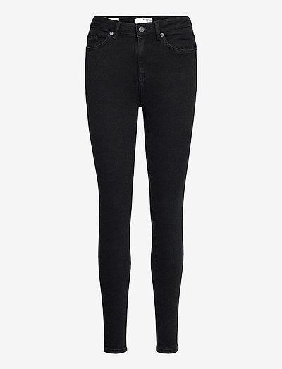 SLFSOPHIA MW SKINNY  BLACK JEANS U - skinny jeans - black denim