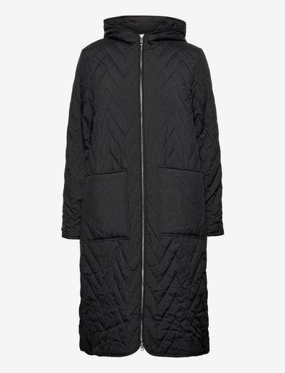 SLFNORA QUILTED COAT - talvitakit - black