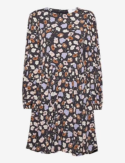 SLFHERI LS AOP SHORT DRESS B - sommerkjoler - blue graphite