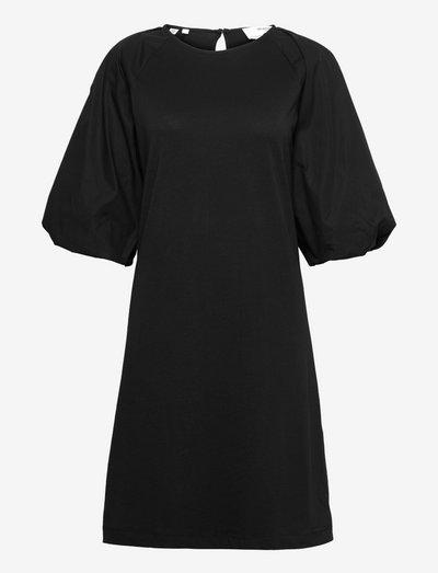 SLFTOKA 3/4 KNEE DRESS B - sommerkjoler - black