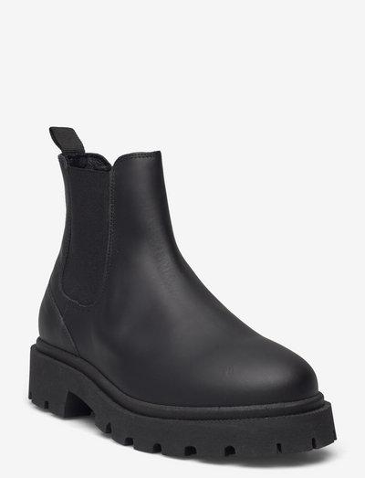 SLFEMMA CHELSEA LEATHEROOT - chelsea boots - black
