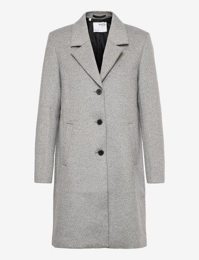SLFSASJA WOOL COAT BOOZT B - uldfrakker - light grey melange