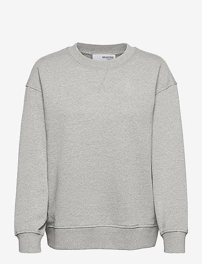 SLFSTASIE LS SWEAT - dressipluusid ja kapuutsiga dressipluusid - light grey melange
