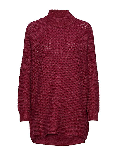 SFERICA LS KNIT PULLOVER - BEET RED