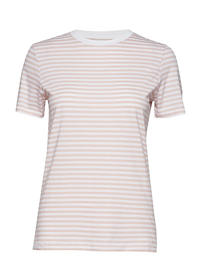SLFMY PERFECT SS TEE BOX CUT-STRI. NOOS - BRIGHT WHITE