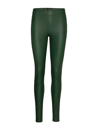Slfsylvia Mw Stretch Leather Leggin B Leather Leggings/Hosen Grün SELECTED FEMME