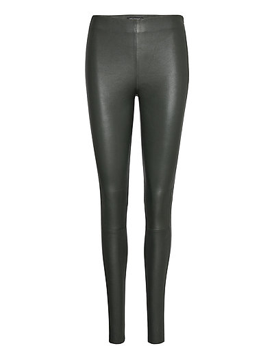Slfsylvia Mw Stretch Leather Leggin B Leather Leggings/Hosen Grün SELECTED FEMME | SELECTED SALE