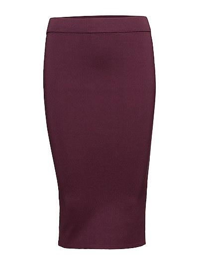 SFMIRJA MW KNIT SKIRT - MAUVE WINE