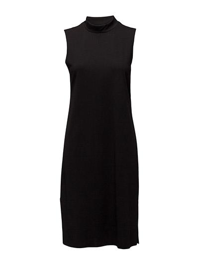 SFCODA SL HIGHNECK DRESS EX - BLACK