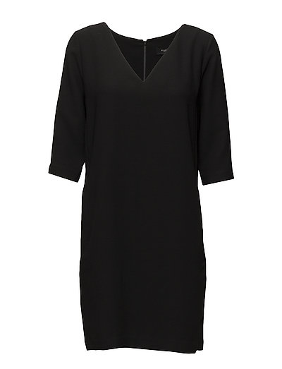 Slftunni Smile 3/4 Dress Noos Kleid Knielang Schwarz SELECTED FEMME