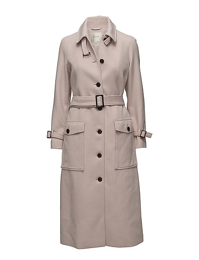 SFALLY LONG WOOL COAT H - GRAY MORN