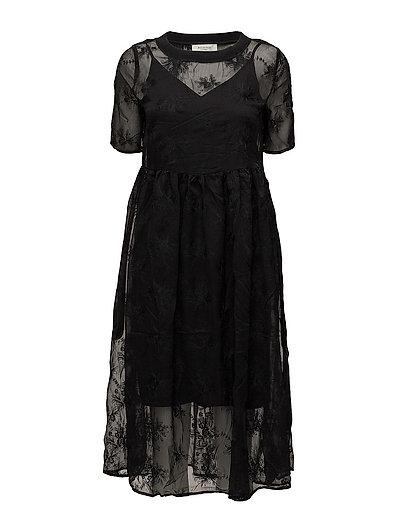 SFEWHA 2/4 LACE DRESS - BLACK