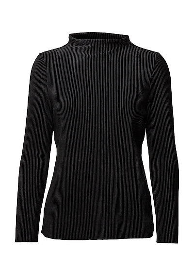 SFVELVA LS HIGH NECK SWEAT - BLACK