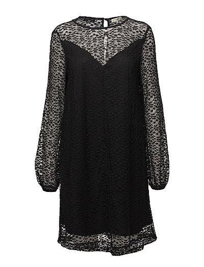 SFLACIE LS LACE DRESS - BLACK