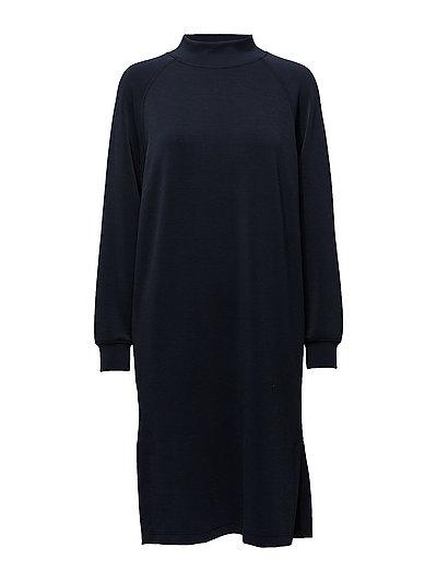 SFTEA LS HIGHNECK SWEAT DRESS - DARK SAPPHIRE