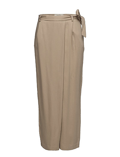 SFCROSS MW WIDE CROPPED PANT - SILVER MINK