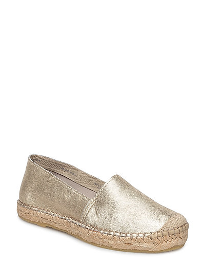SFMARLEY GOLD LEATHER ESPADRILLES - GOLD COLOUR