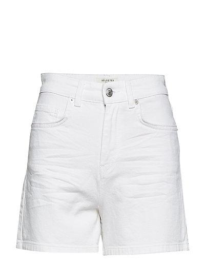 SFCARLA HW DENIM SHORTS WHITE J - WHITE DENIM