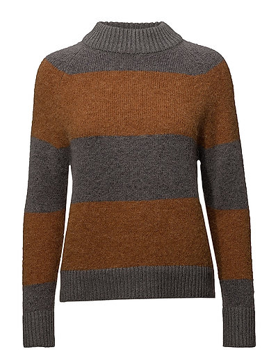 SLFISABELLA LS KNIT HIGHNECK W - GLAZED GINGER