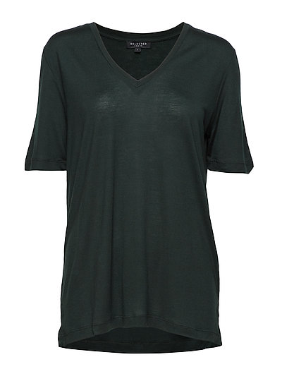 SFVITA 2/4 V-NECK TEE - COLOR - SCARAB