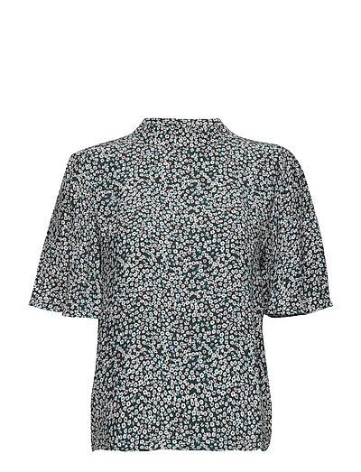 SLFCECILIE 2/4 HIGH NECK  TOP EX - SCARAB