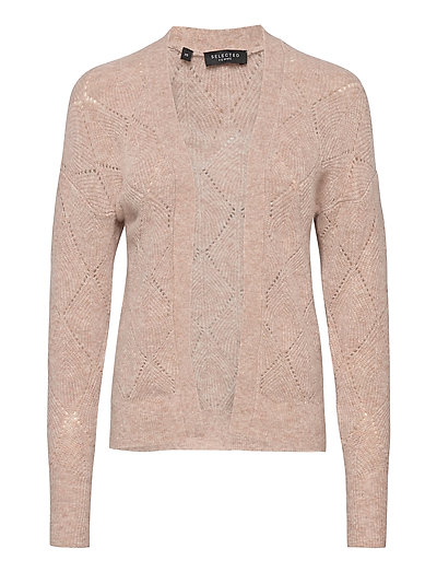 Slfsif Ls Structure Knit Cardigan B Cardigan Strickpullover Pink SELECTED FEMME