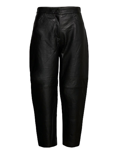 Slfagnes Mw Cropped Leather Pant B Leather Leggings/Hosen Schwarz SELECTED FEMME | SELECTED SALE