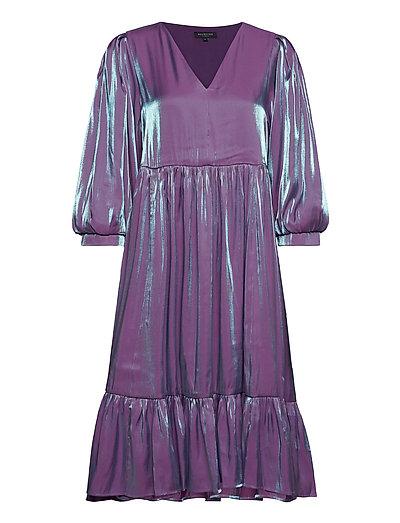 Slfstacy 3/4 Midi Dress B Kleid Knielang Lila SELECTED FEMME