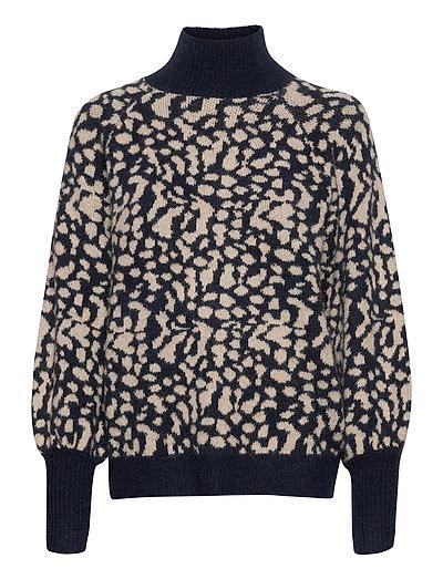 Slfparis Ls Knit Highneck B Rollkragenpullover Poloshirt Blau SELECTED FEMME
