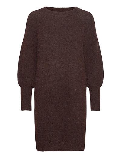 Slfsif Kaya Ls Knit Dress O-Neck B Strickpullover Braun SELECTED FEMME | SELECTED SALE