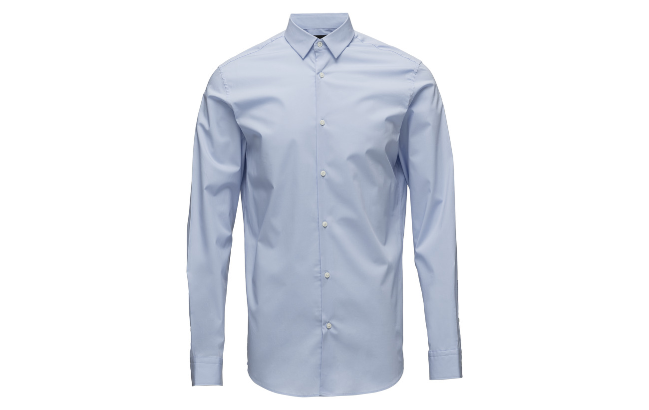 Slhslimpreston White clean B Shirt Homme Selected Noos Bright Ls TqwHRfWgF
