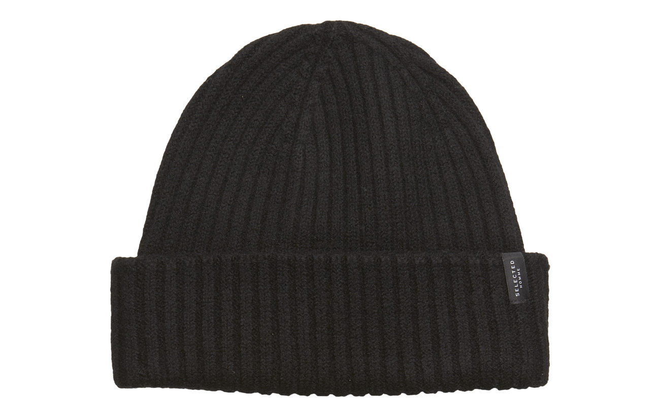Selected Homme SLHMERINO CARDIGAN BEANIE W - BLACK