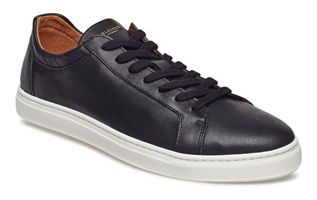 Selected Homme SLHDAVID LEATHER TRAINER W - BLACK