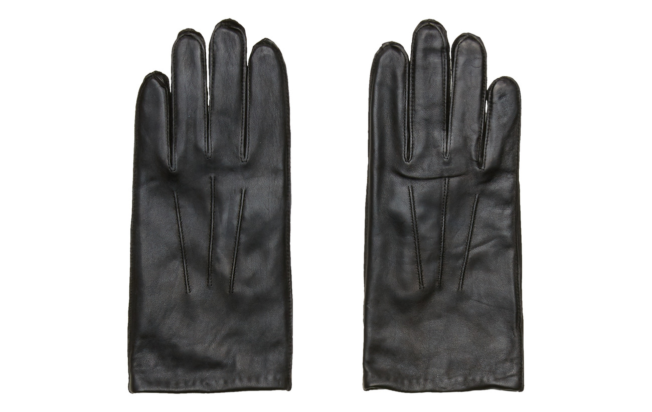 Selected Homme SLHMARTIN LEATHER GLOVE B - BLACK