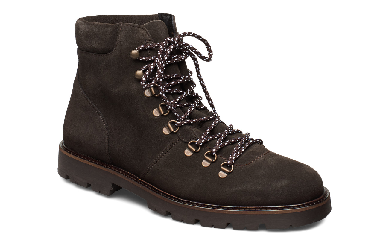 Selected Homme SLHISAAC SUEDE HIKING BOOT W - DEMITASSE