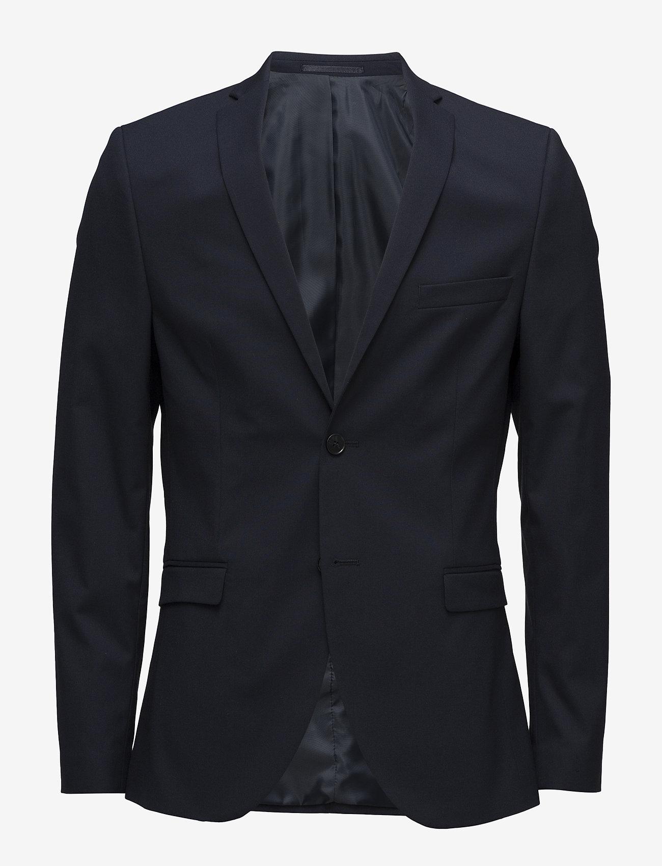 Selected Homme - SLHSLIM-MYLOLOGAN NAVY BLAZER B - single breasted blazers - navy blazer - 0
